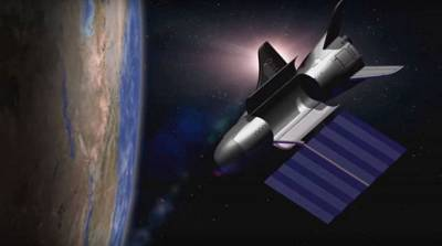 U.S. Air Force\'s X-37B space plane in orbit.