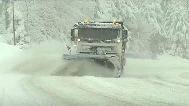 Megérkezett a tél Közép-Európába