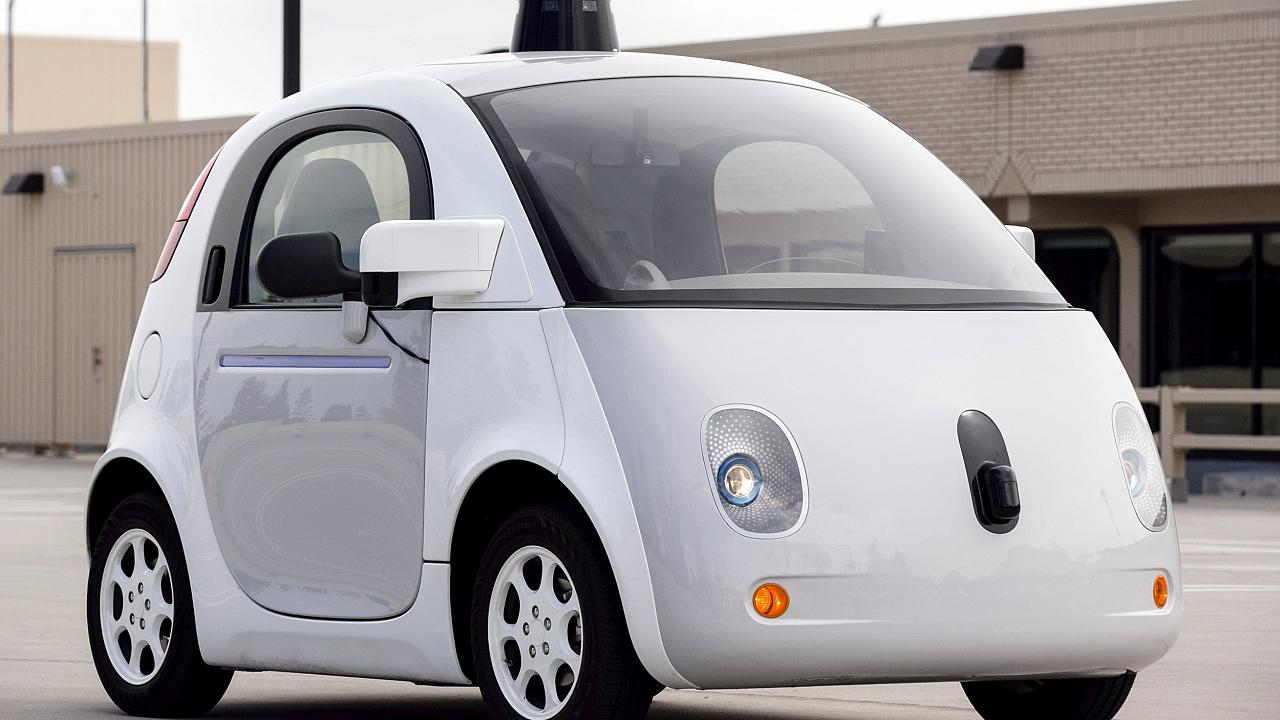 Image: A prototype of Google's own self-driving vehicle is seen