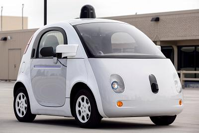 A prototype of Goodle\'s own self-driving vehicle is seen during a media preview of Google\'s prototype autonomous vehicles in Mountain View, California on Sept. 29, 2015.