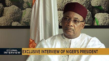 Interview exclusive du président nigérien  Mahamadou Issoufou sur Africanews