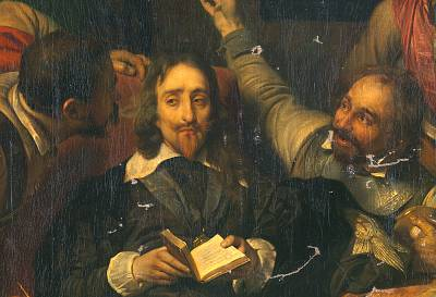"""Paul Delaroche\'s """"Charles I Insulted by Cromwell\'s Soldiers."""""""