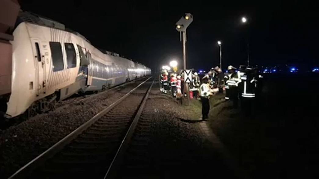 Dozens injured in a train collision in Meerbusch, Germany