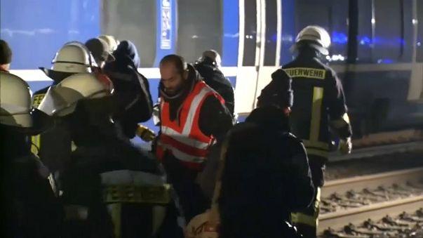 Németországi vonatbaleset: 47 sérült