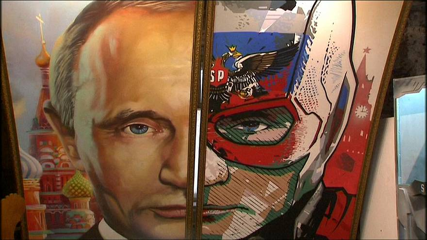 """Superputin"", un héroe del pop art"