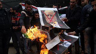 Mindenütt tüntettek a palesztinok Trump miatt