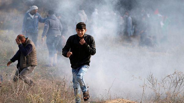 Un palestino muere en las protestas por la decisión de Trump sobre Jerusalén