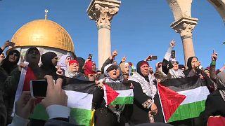 Filistinliler Kudüs için sokaklarda