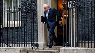 Image: Britain's Prime Minister Boris Johnson arrives to deliver a speech o