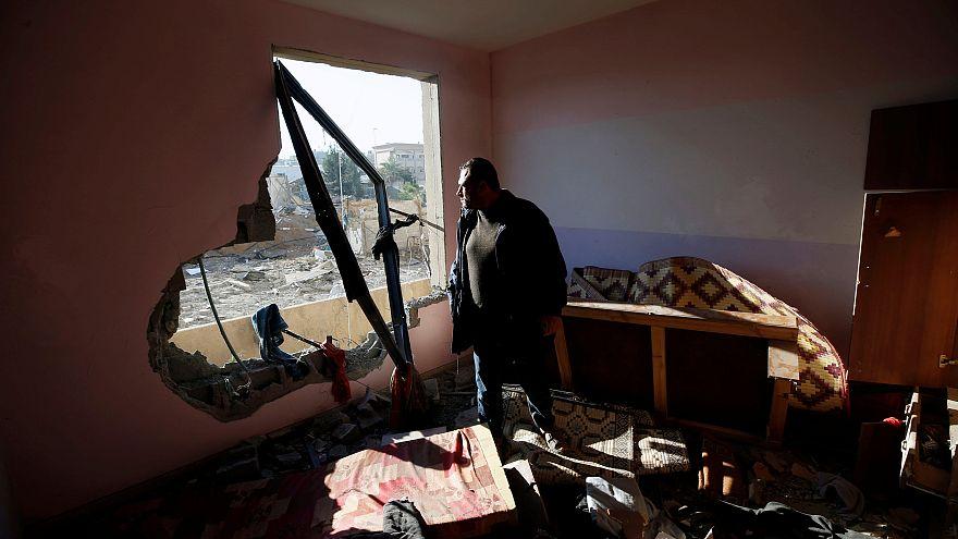 Dos palestinos muertos en bombardeos israelíes