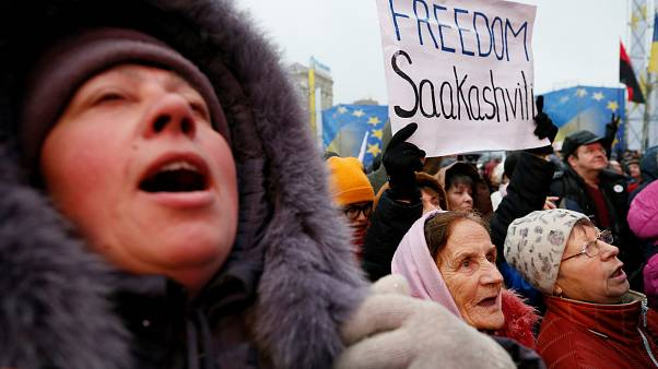 Saakashvili supporters rally in Kiev