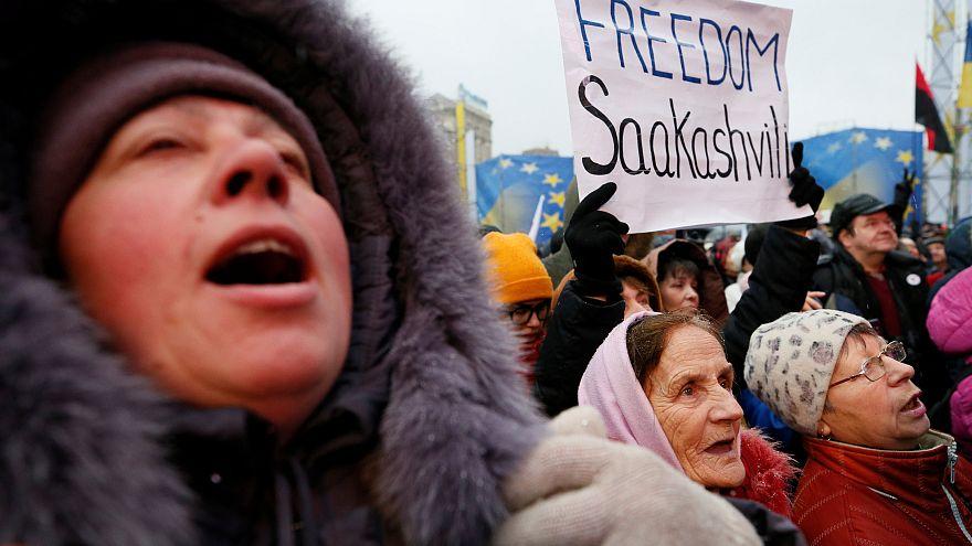 Szaakasvili hívei tüntettek