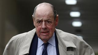 Image: Nicholas Soames walks in Westminster on Tuesday.
