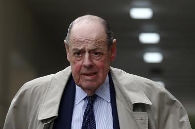Nicholas Soames walks in Westminster on Tuesday.