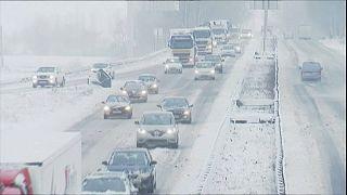 La neige perturbe tout l'ouest de l'Europe