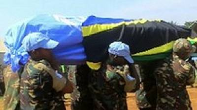 UN peacekeepers honour Tanzanian troops killed in DR Congo
