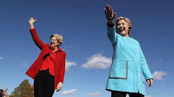 Image: Elizabeth Warren Hillary Clinton