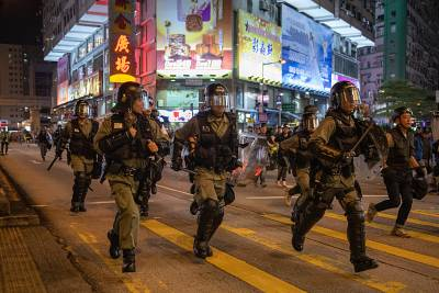 Police have responded to violence in recent weeks with water cannon, rubber bullets and tear gas.
