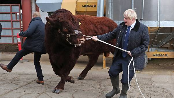 Image: Boris Johnson Visits Aberdeenshire To Announce Additional Funding Fo