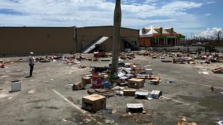 Image: Remains from food and supplies distributed by Abaco Groceries the da