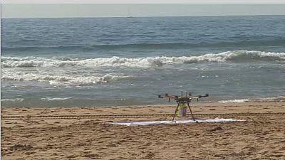 Shark spotting drones deployed along Australia's beaches