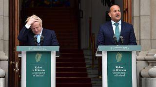 Image: Irish Taoiseach Leo Varadkar speaks to the media ahead of his meetin