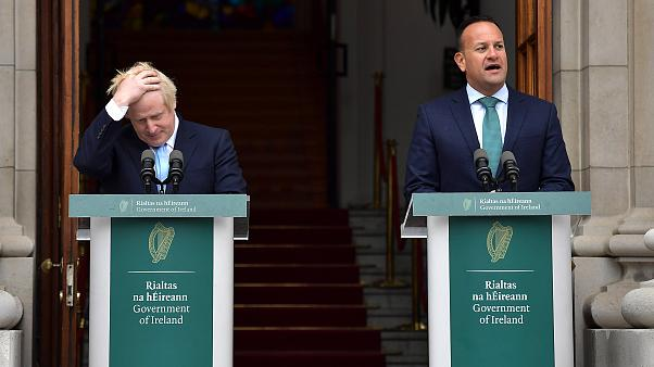 Image: Irish Taoiseach Leo Varadkar speaks to the media ahead of his meetin