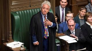 Image: Speaker John Bercow reacts as he delivers a statement in the House o