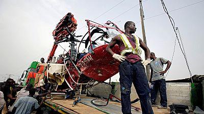 Côte d'Ivoire : quatre blessés dans un crash d'hélicopère à Abidjan