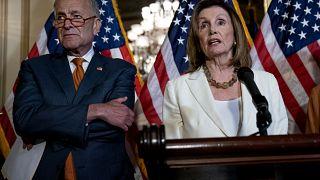 Image: Senate Minority Leader Chuck Schumer and Speaker of the House Nancy