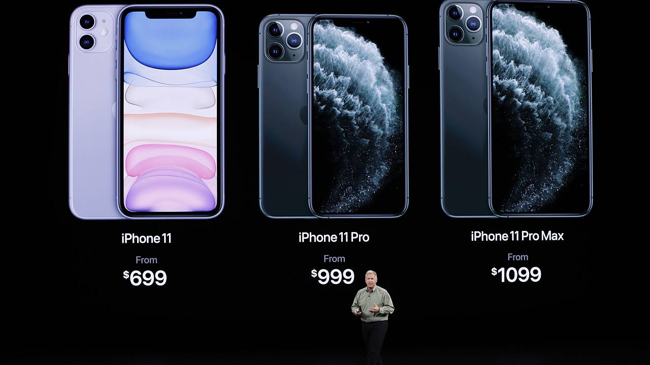 Image: Phil Schiller presents the new iPhone 11 Pro at an Apple event at th