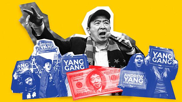 Image: Andrew Yang has seen a slow and steady tick upward in his polling an