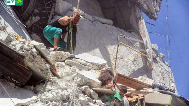 Image: Syria airstrike
