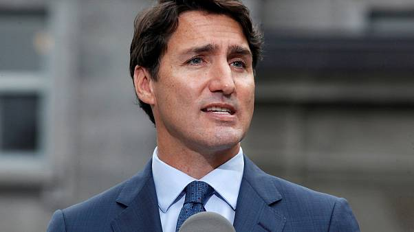 Image: Canada's Prime Minister Justin Trudeau speaks during a news conferen