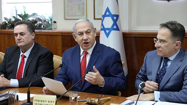 Image: Israeli Prime Minister Benjamin Netanyahu, Foreign Minister Israel K