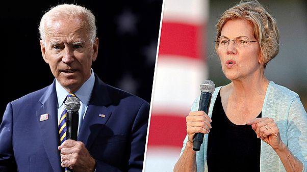 Image: Joe Biden Elizabeth Warren