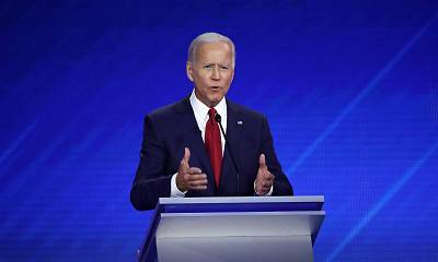 Democratic presidential candidate former Vice President Joe Biden speaks during the Democratic presidential debate on Sept. 12, 2019 in Houston.