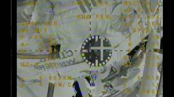 Three astronauts arrive at International Space Station