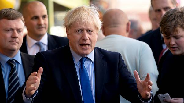 Image: British Prime Minister Boris Johnson visits Doncaster Market on Sept