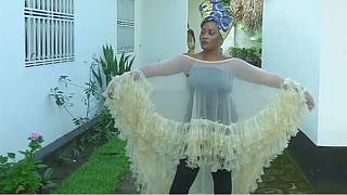 Condom clothing designer in the DR Congo promotes HIV awareness