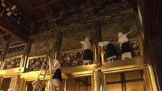 Japonya'da Budist tapınaklarında yıllık temizlik
