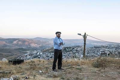 Salman Fakhraldeen, a 65-year-old Druze activist, who remembers the day the Israelis came and occupied his hometown and burnt the Syrian flag above his school.