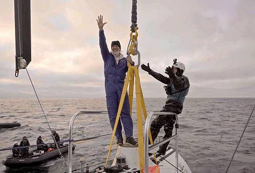 Image: Victor Vescovo, left, recently completed the Five Deeps Expedition w