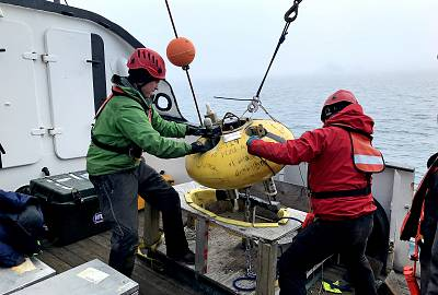 Instruments aboard the buoys had to be retrieved to download the stored data.