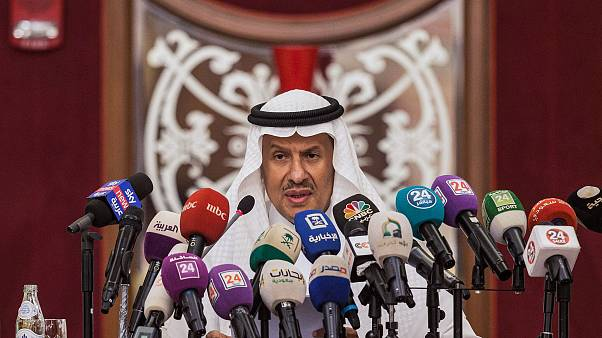 Image: Saudi Arabia's Energy Minister Prince Abdulaziz bin Salman gives a p