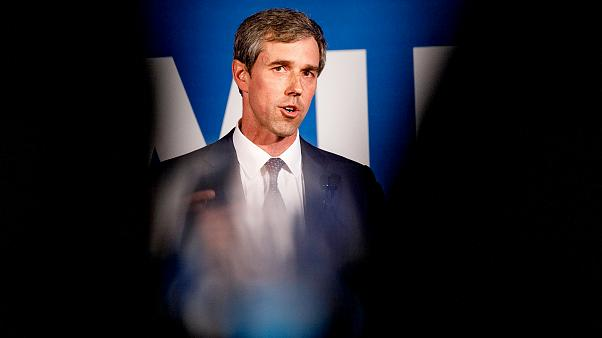 Image: Beto O'Rourke speaks at a Democratic National Committee event in Atl