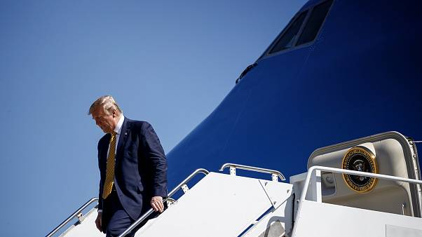 Image: President Donald Trump arrives in Mountain View, Calif., on Sept. 17