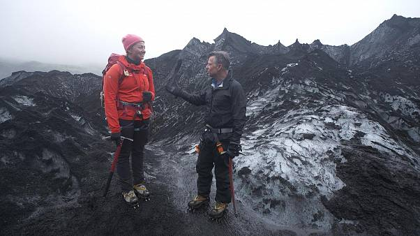 Image: Richard Engel and Sigurros Arnardottir, a masters student in glacial