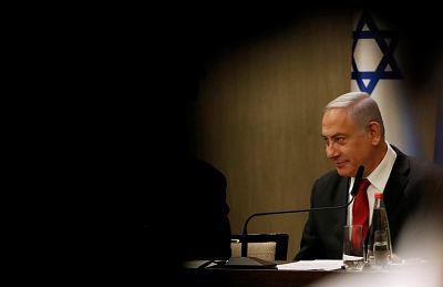 Israeli Prime Minister Benjamin Netanyahu delivers a statement during a news conference in Jerusalem Sept. 18, 2019.