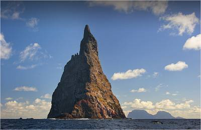 One remnant of Zealandia is Ball\'s Pyramid in Lord Howe Island, Australia.